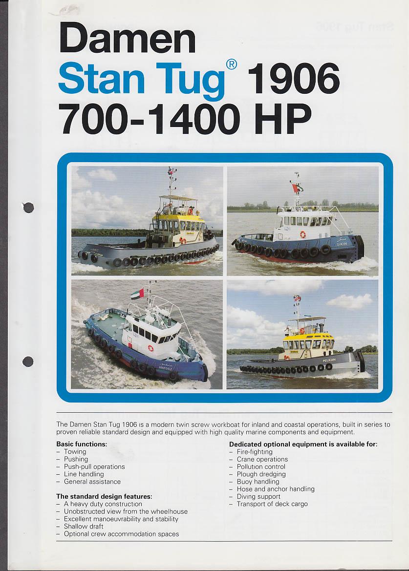 Damen Stan Tug 1906 700-1400HP sales folder ca 1990s tugboat