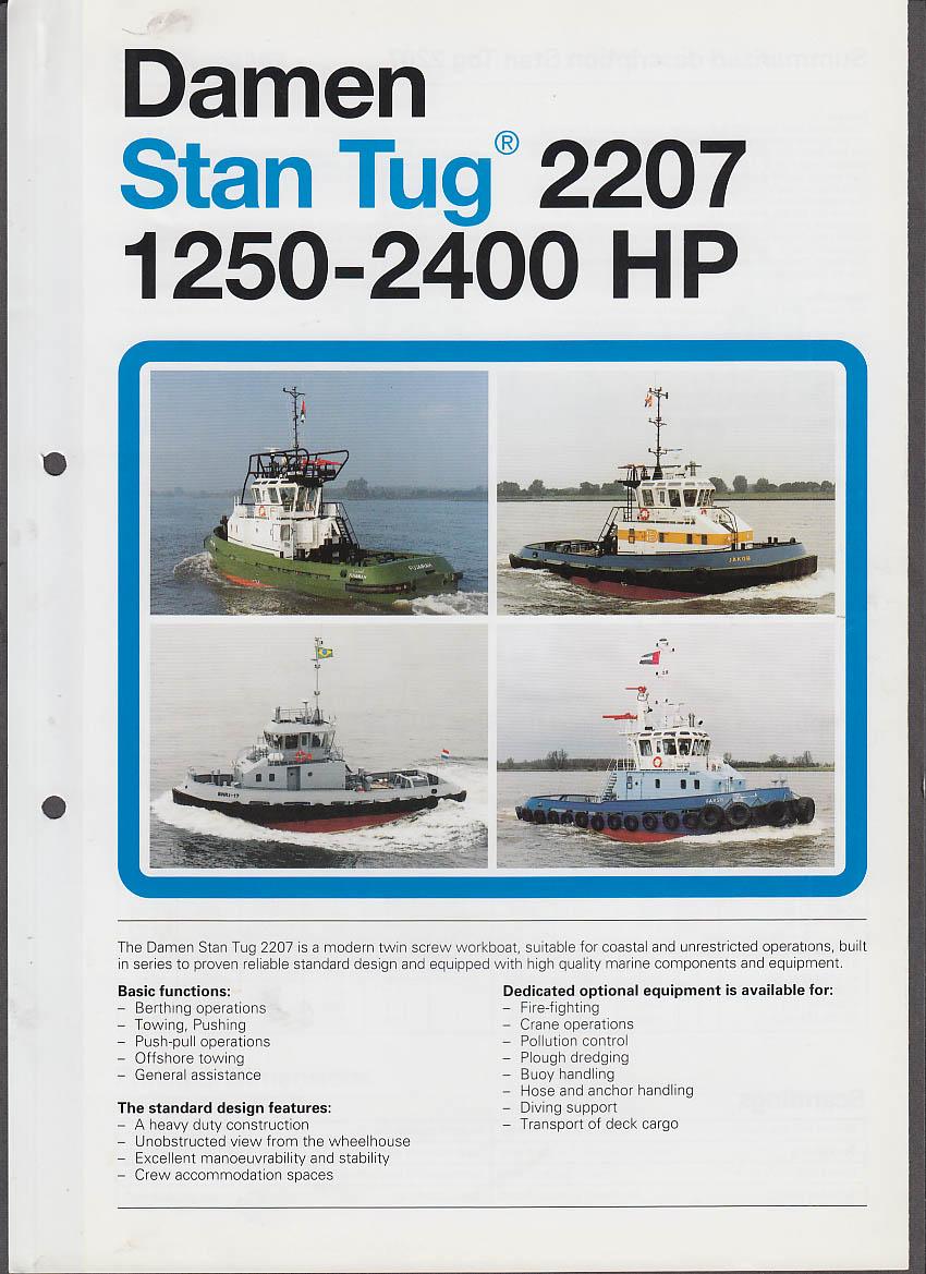 Damen Stan Tug 2207 1250-2400HP sales folder ca 1990s tugboat