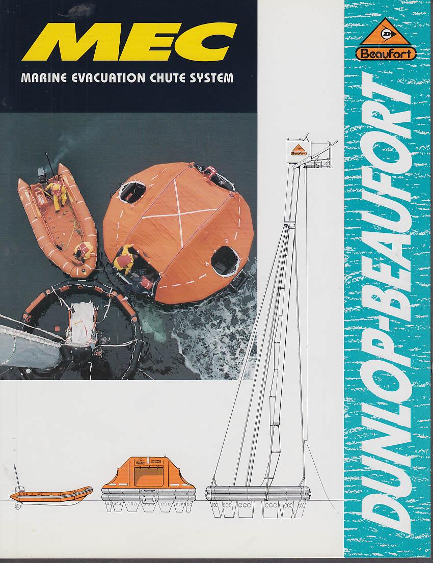 Dunlop-Beaufort MEX Marine Evacuation Chute System sales folder 1993
