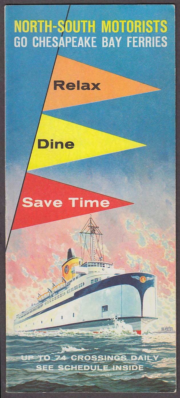 Chesapeake Bay Ferries Map & Schedule 1959