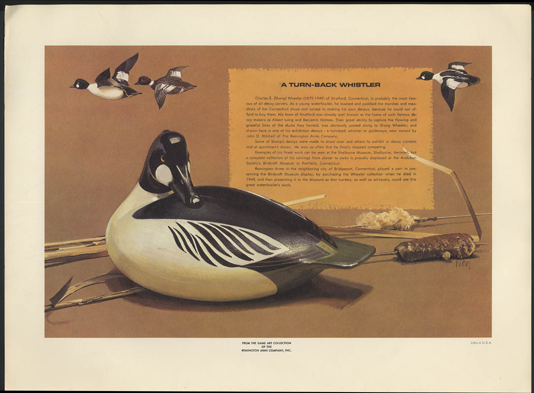 Bob Kuhn Remington Arms print 1969 A Turn-Back Whistler Wheeler Decoy