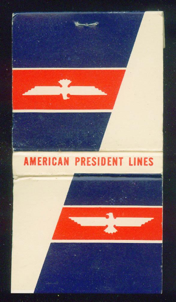 American President Lines steamship  matchbook 30-sticks unused
