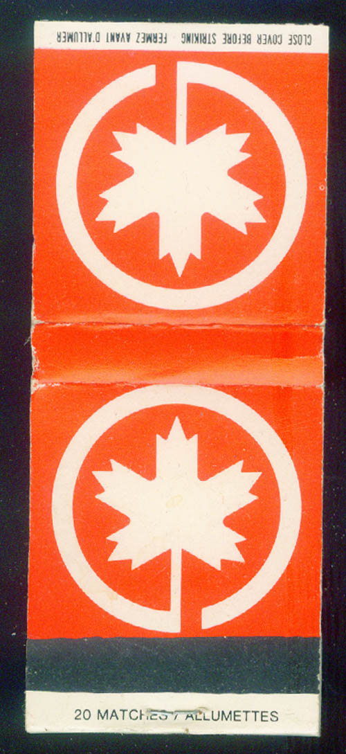 Air Canada airline matchbook 20-stick unused