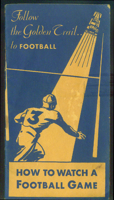Richfield Oil How to Watch a Football Game 1931 w/ Eastern college schedule