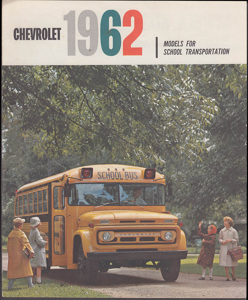 1962 Chevrolet School Bus sales brochure