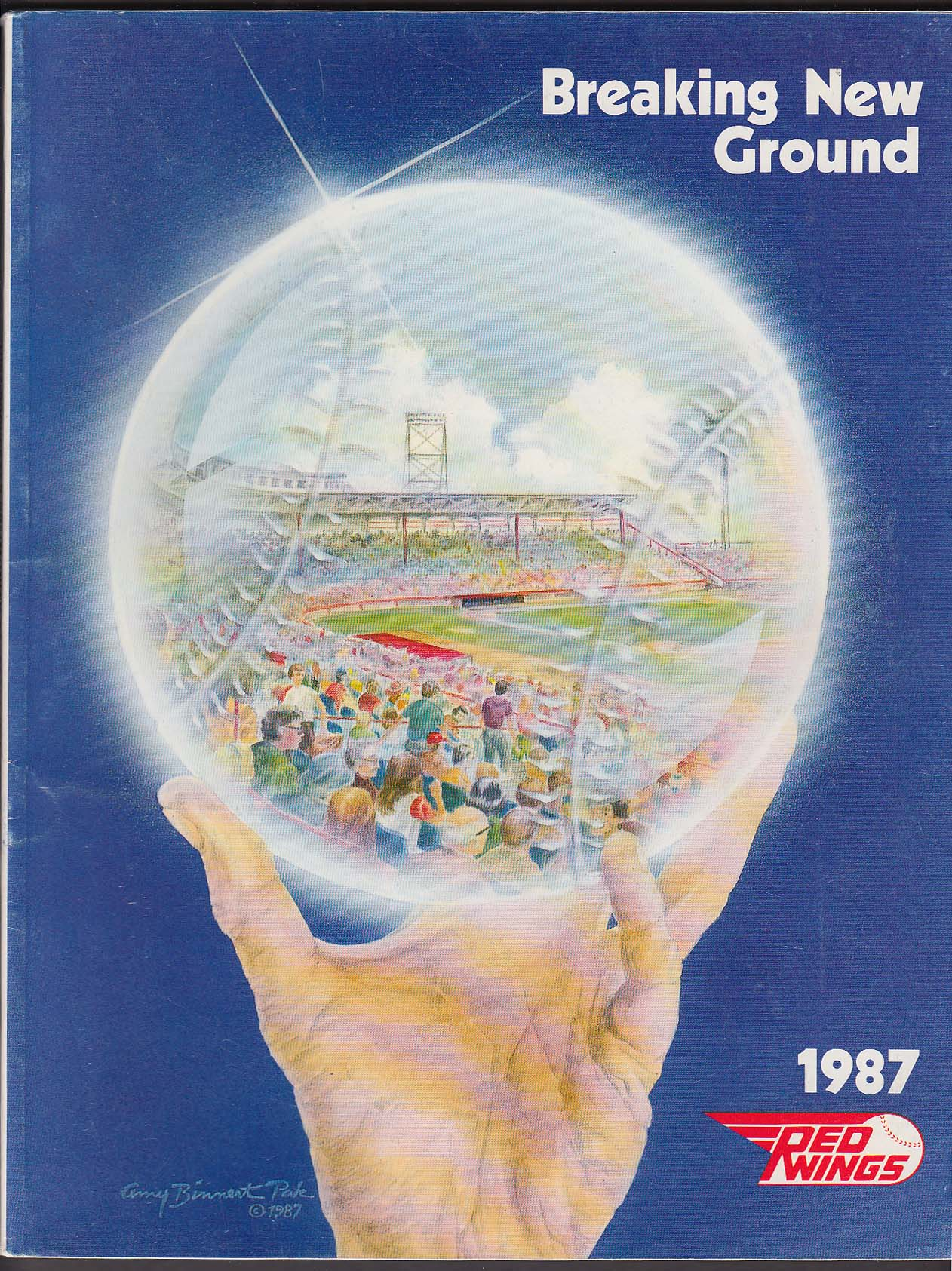 1987 Rochester Community Baseball Yearbook Program UNSCORED