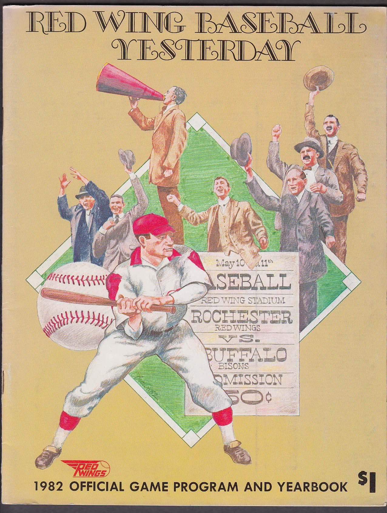 1982 Rochester Red Wings Official Program & Yearbook 1982