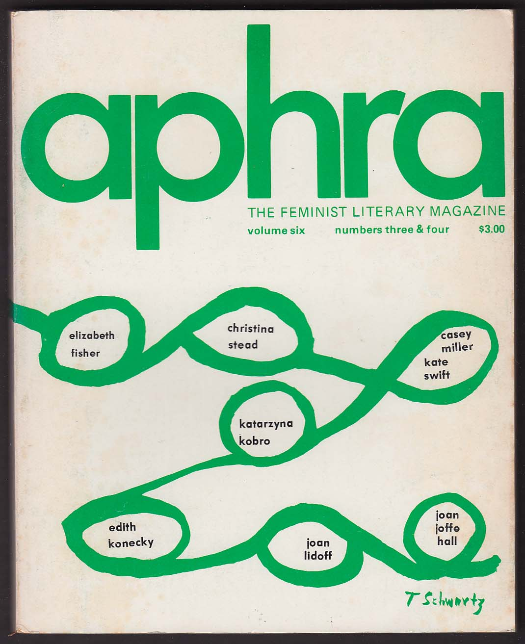 APHRA Feminist Literary Casey Miller Kate Swift Martha Collins + Spring 1976