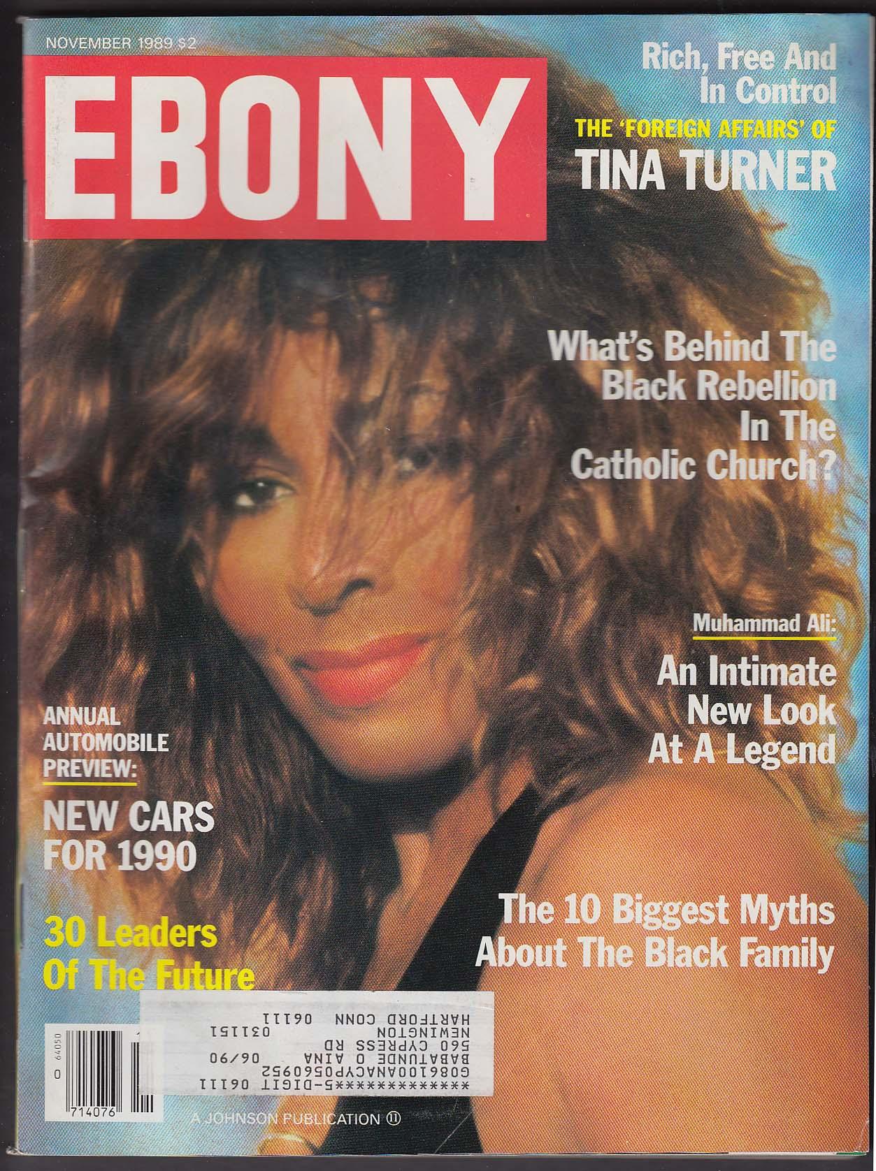 EBONY Tina Turner Catholic Church Debbie Allen Muhammad Ali 11 1989
