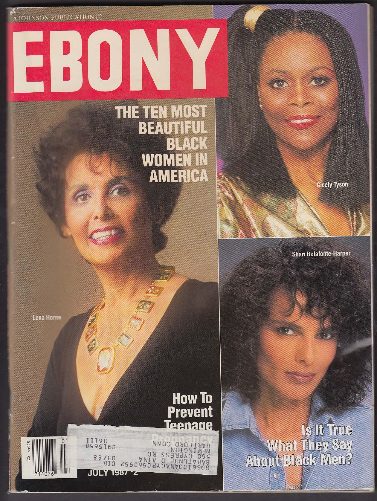 EBONY Lena Horne Cicely Tyson Shari Belafonte-Harper 7 1987