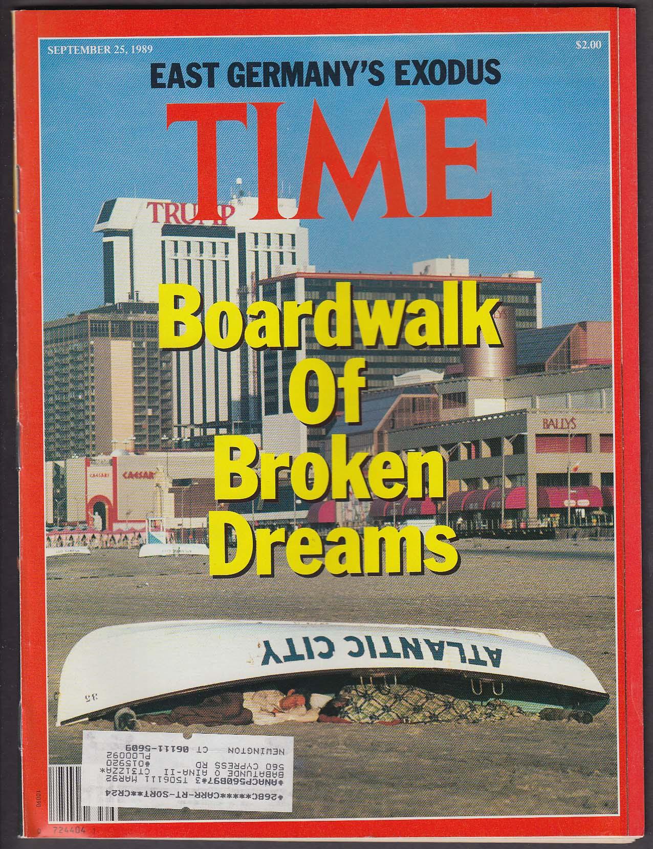 TIME Atlantic City David Dinkins East German Exodus + 9/25 1989