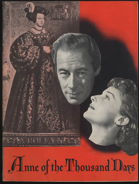 Anne of the Thousand Days program Rex Harrison Joyce Redman ca 1949