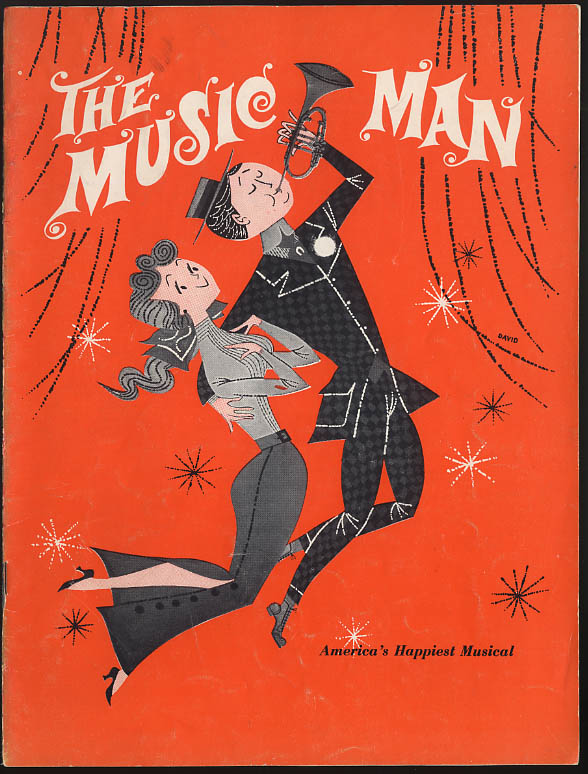 Image for The Music Man souvenir theatre program Harry Hickox Dianne Barton 1962