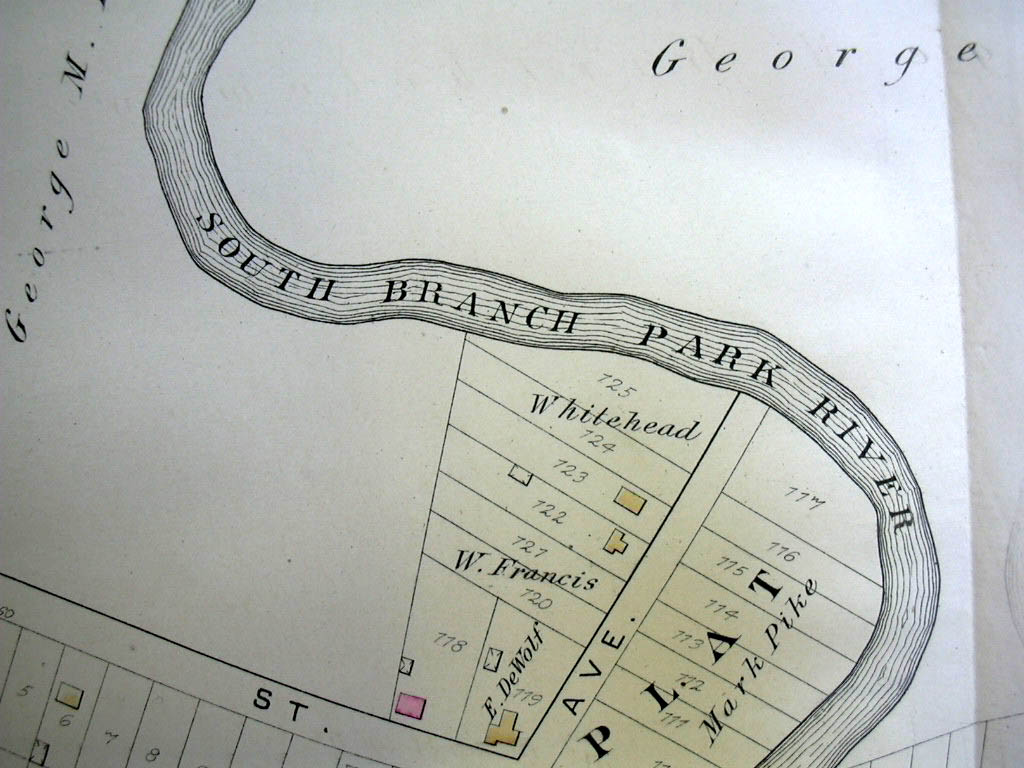 Hartford CT Map 1880 Ward 8 Barholomew, Francis Plat Zion Hill Barnards Cemetey