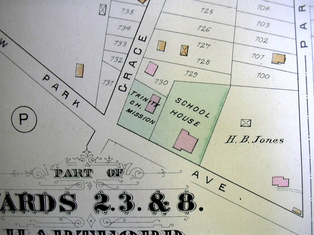 Hartford CT Map 1880 Wards 2 3 & 8 West End Ensign Kibbie Loomis & Woodruff +