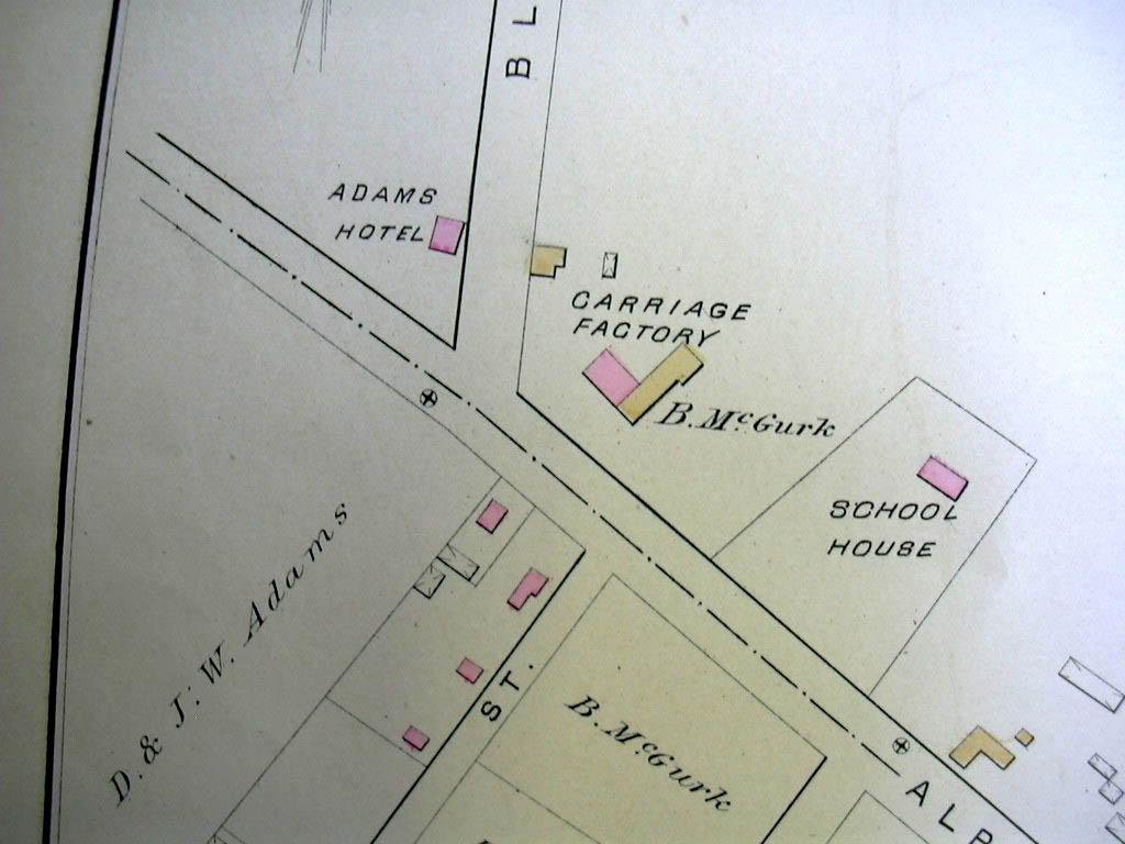 Hartford CT Map 1880 Wards 1 & 7 Carriage Factory Batterson Kenyon Carter +