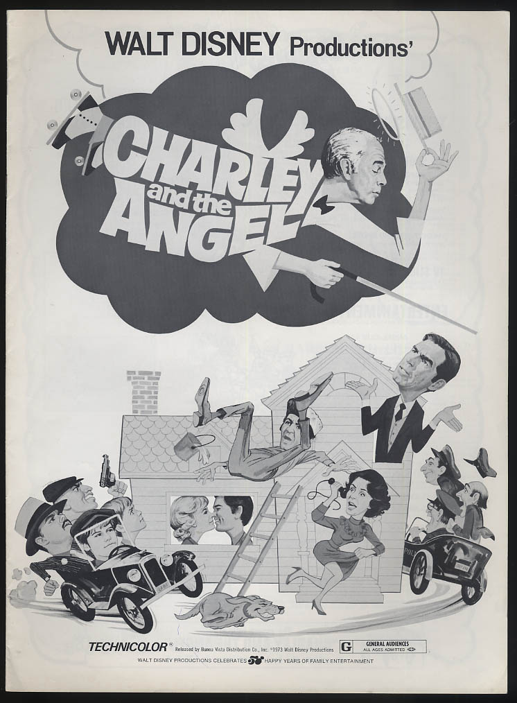 Charley & the Angel movie pressbook Fred MacMurray Kurt Russell 1973