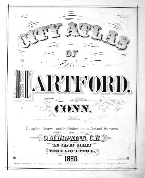 Hartford CT Map 1880 Ward 6 Meadow Branch RR Mather Kenyon; Ice House