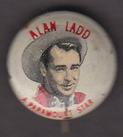Image for Paramount star Alan Ladd Quaker Puffed Wheat & Rice pinback 1930s