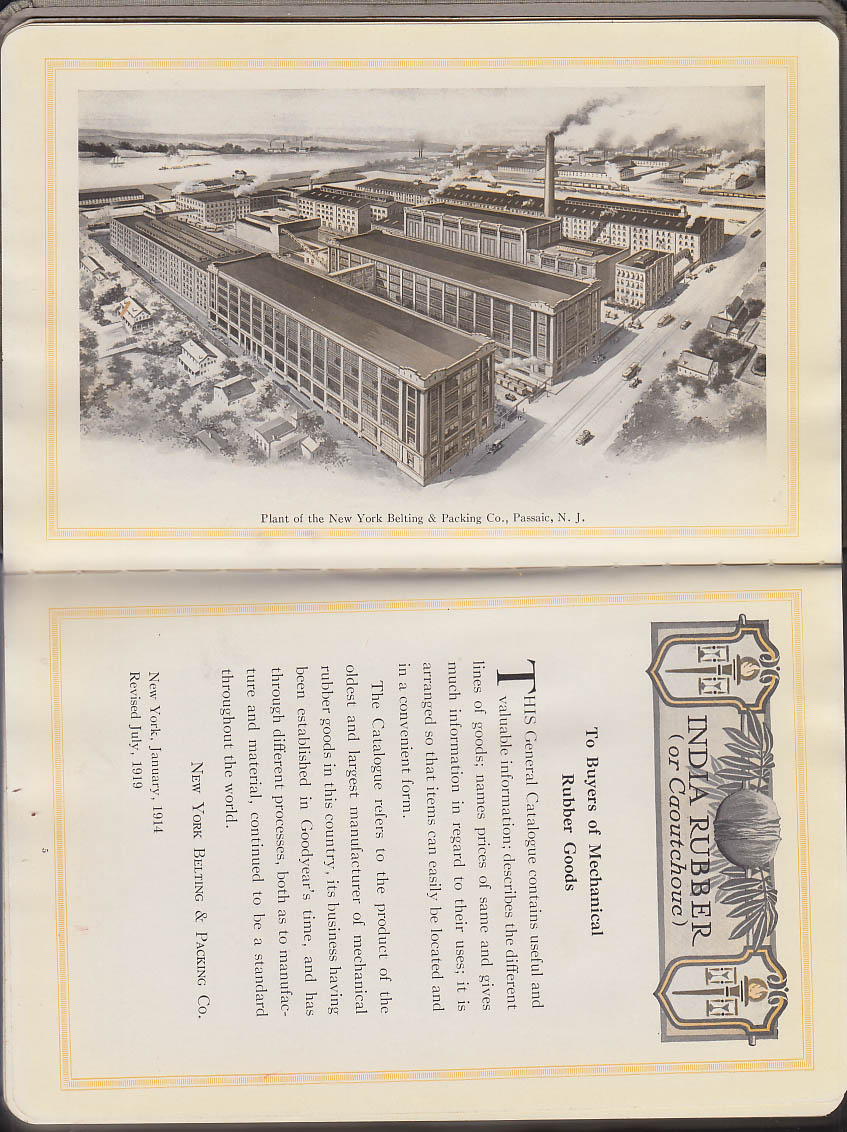 New York Belting & Packing Mechanical Rubber Goods Catalog 1919