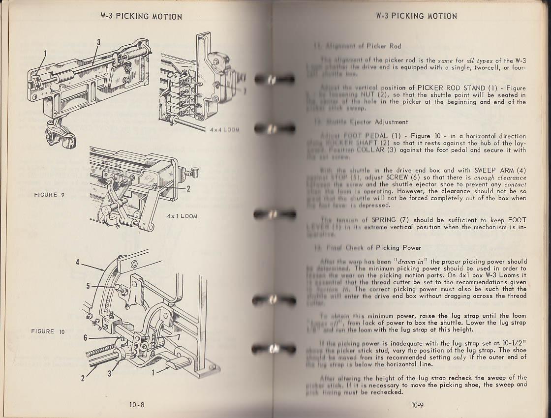 Crompton & Knowles Loom Works W-Loom Instruction Manual 1950