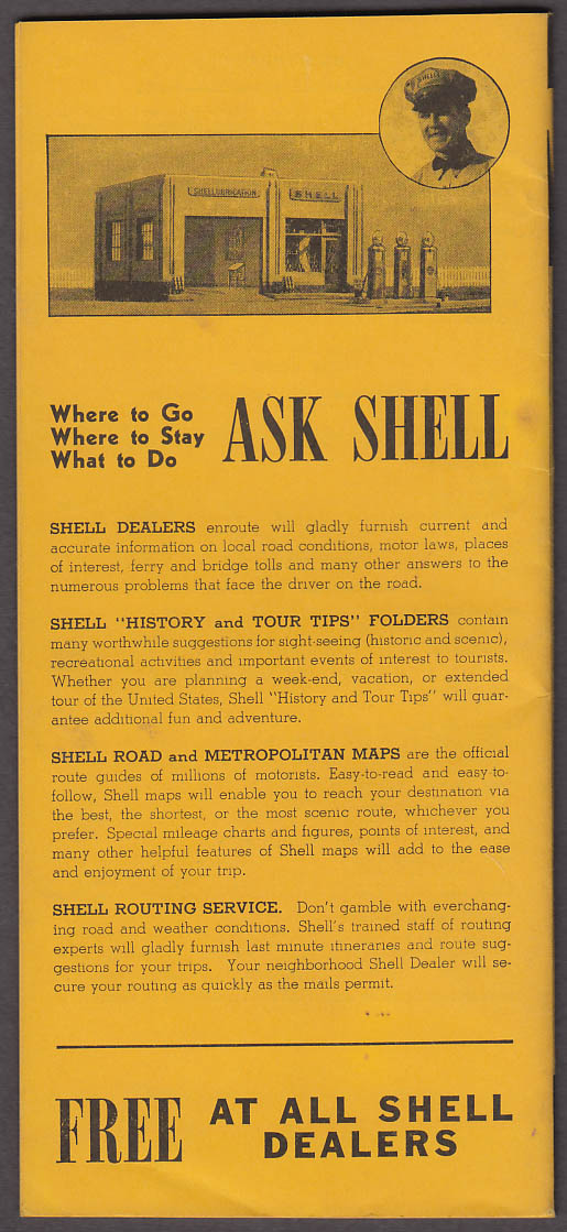 Shell Gasoline Tourist Accommodation Directroy & Btrailer Space 1939