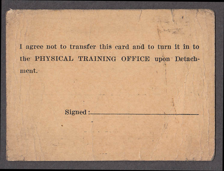 Arkansas A&M Naval Unit Enlisted Man Movie Pass 1944