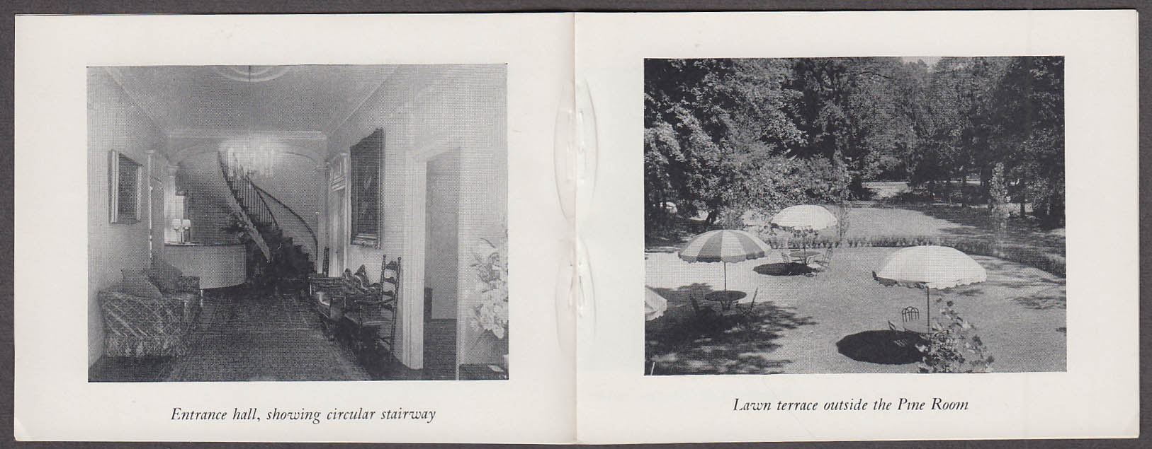 Cooper Inn Cooperstown NY miniature brochure ca 1950s