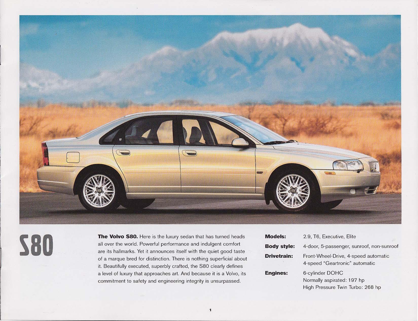 2002 Volvo full line sales catalog S80 S60 S40 XC V70 V40 C70 +
