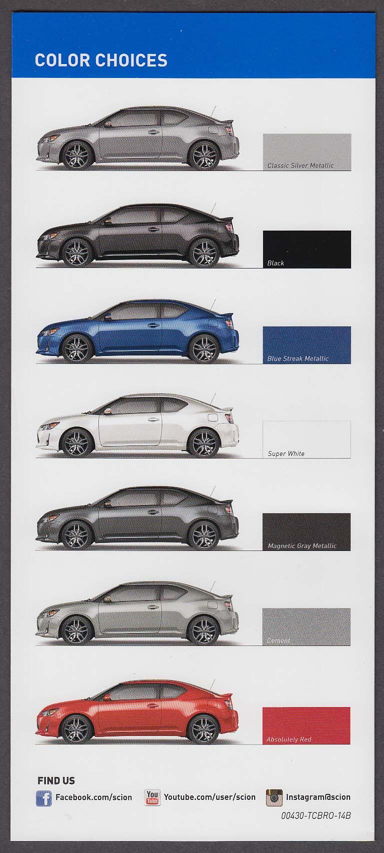 2014 Scion tC sales brochure folder
