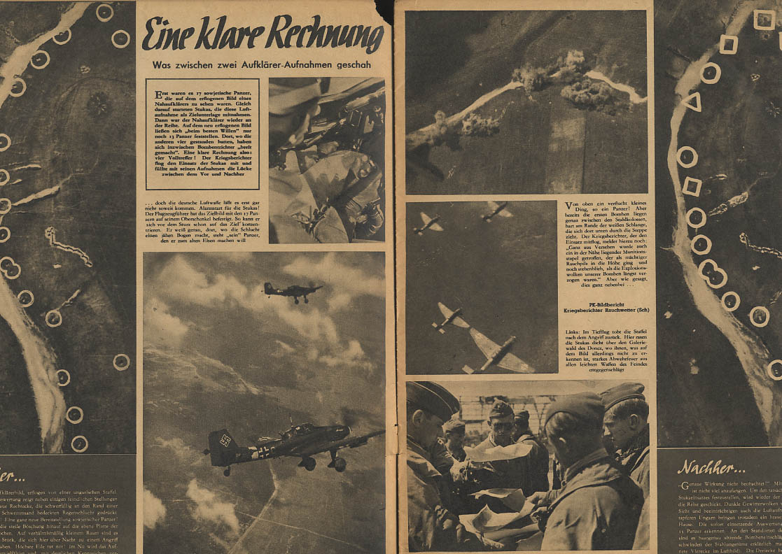 DER ADLER German Luftwaffe newspaper 8/17 1943 map reading war news