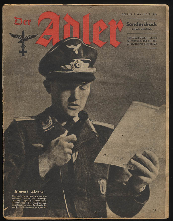 DER ADLER German Luftwaffe newspaper 5/2 1944 paratroops +