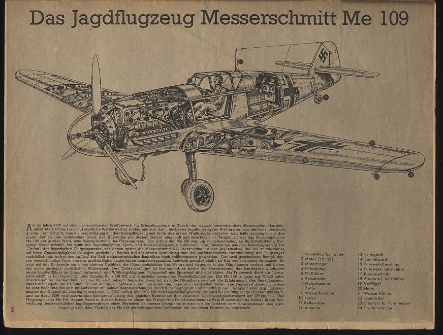 DER ADLER German Luftwaffe newspaper 12/22 1942 Werner Molders; ME109