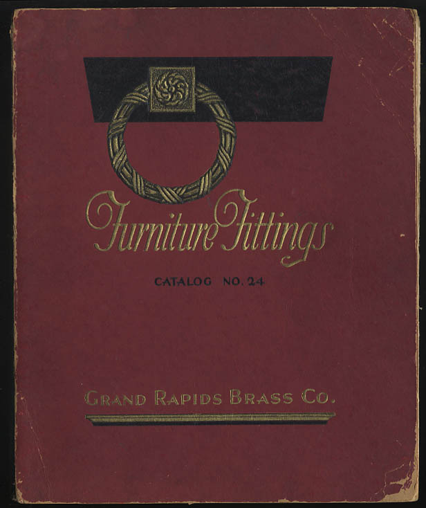 Grand Rapids Brass Furniture Fittings Catalog #24 1924