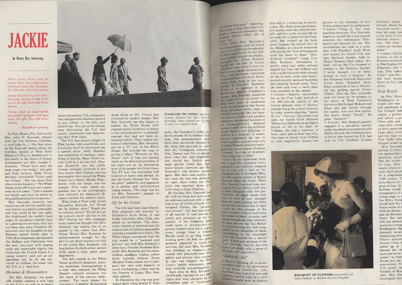USA * 1 News Magazine 4 1962 JFK Jackie Chou En-Lai Vietnam Romney Robert Frost