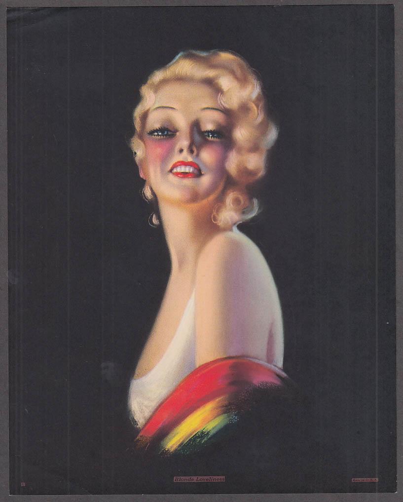 Billy De Vorss pin-up print Blonde Loveliness 1940s