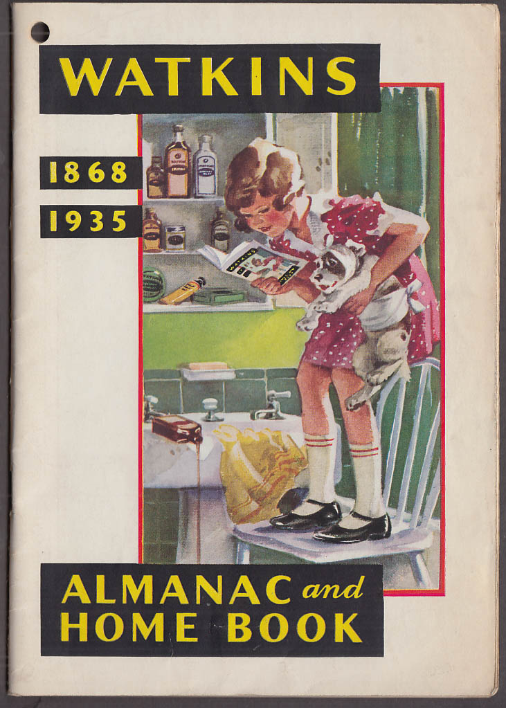 Watkins Almanac & Home Book 1935 food farm home care products remedies