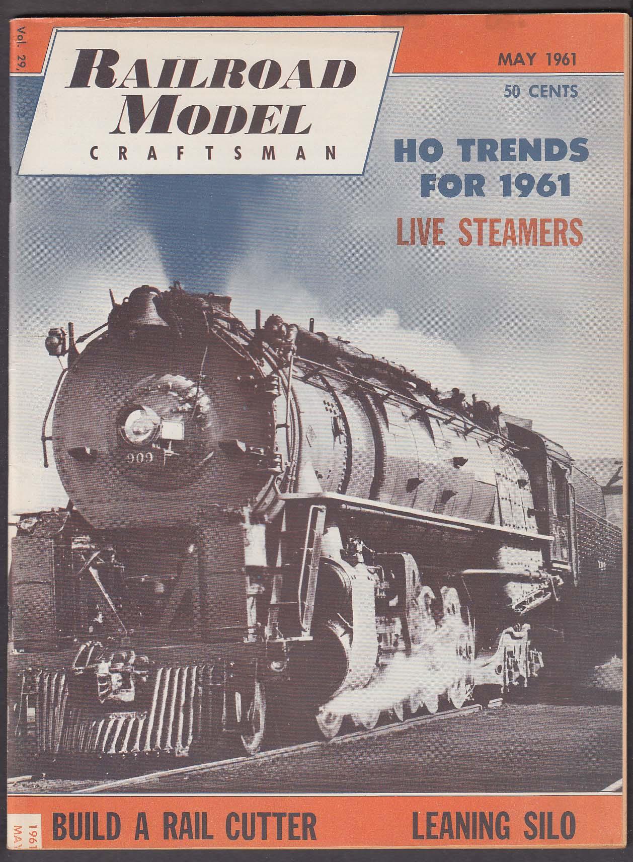 RAILROAD MODEL CRAFTSMAN HO Trends Rail Cutter Leaning Silo ++ 5 1961