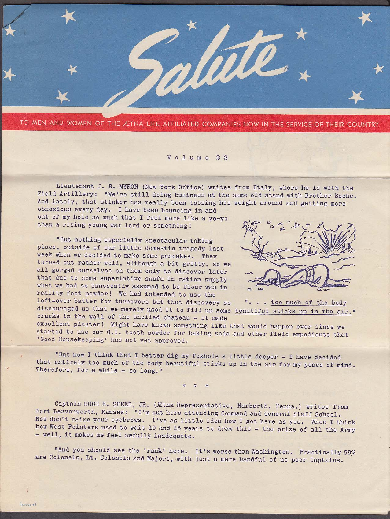 Aetna Life SALUTE V22 Men & Women in Service newsletter 1940s
