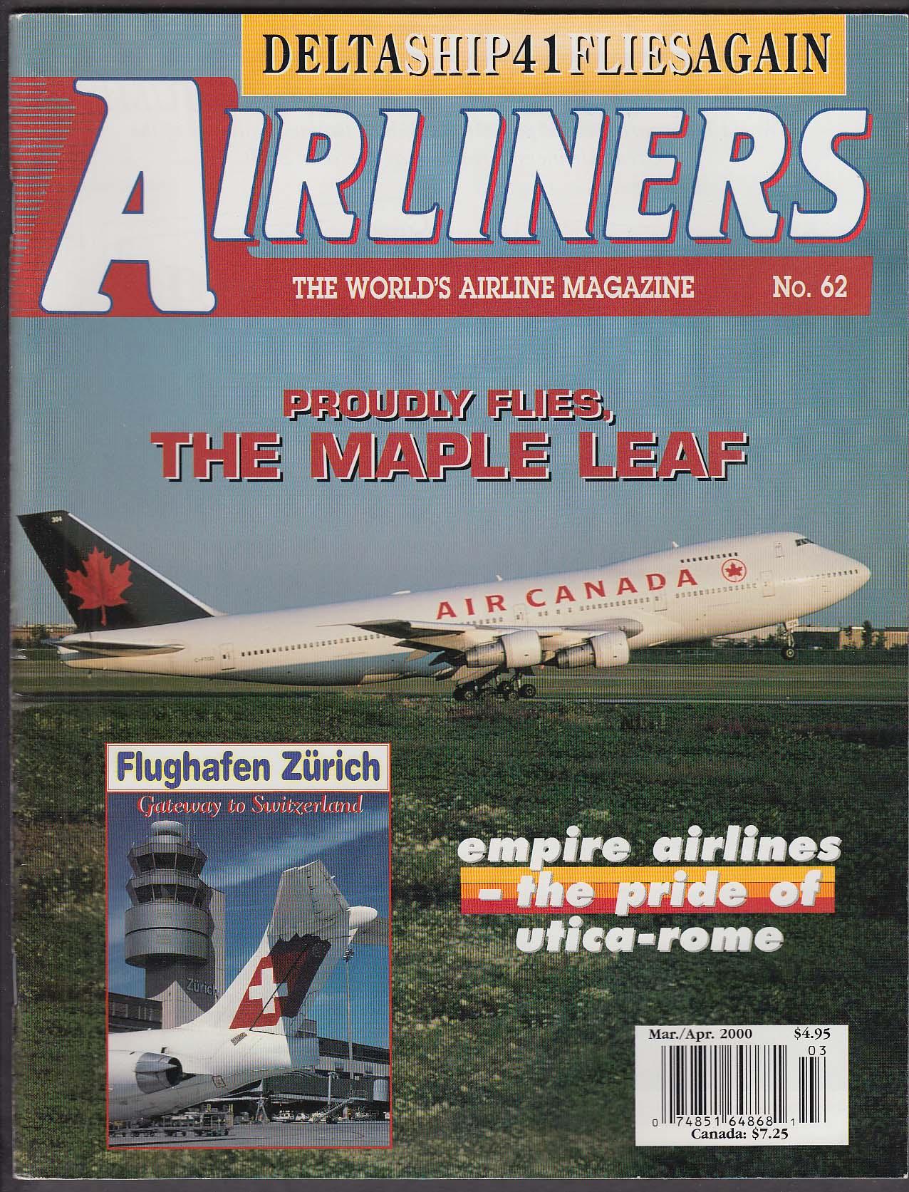 AIRLINERS #62 Air Canada Flughafen Zurich JetBlue Delta Ship 41 ++ 3-4 2000