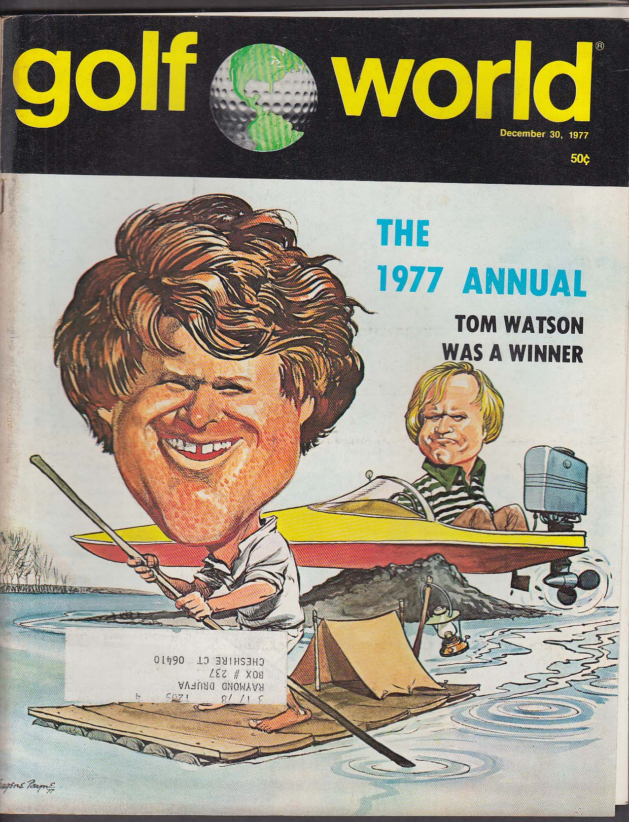 GOLF WORLD Tom Watson Lanny Wadkins Beth Daniel ++ 12/30 1977