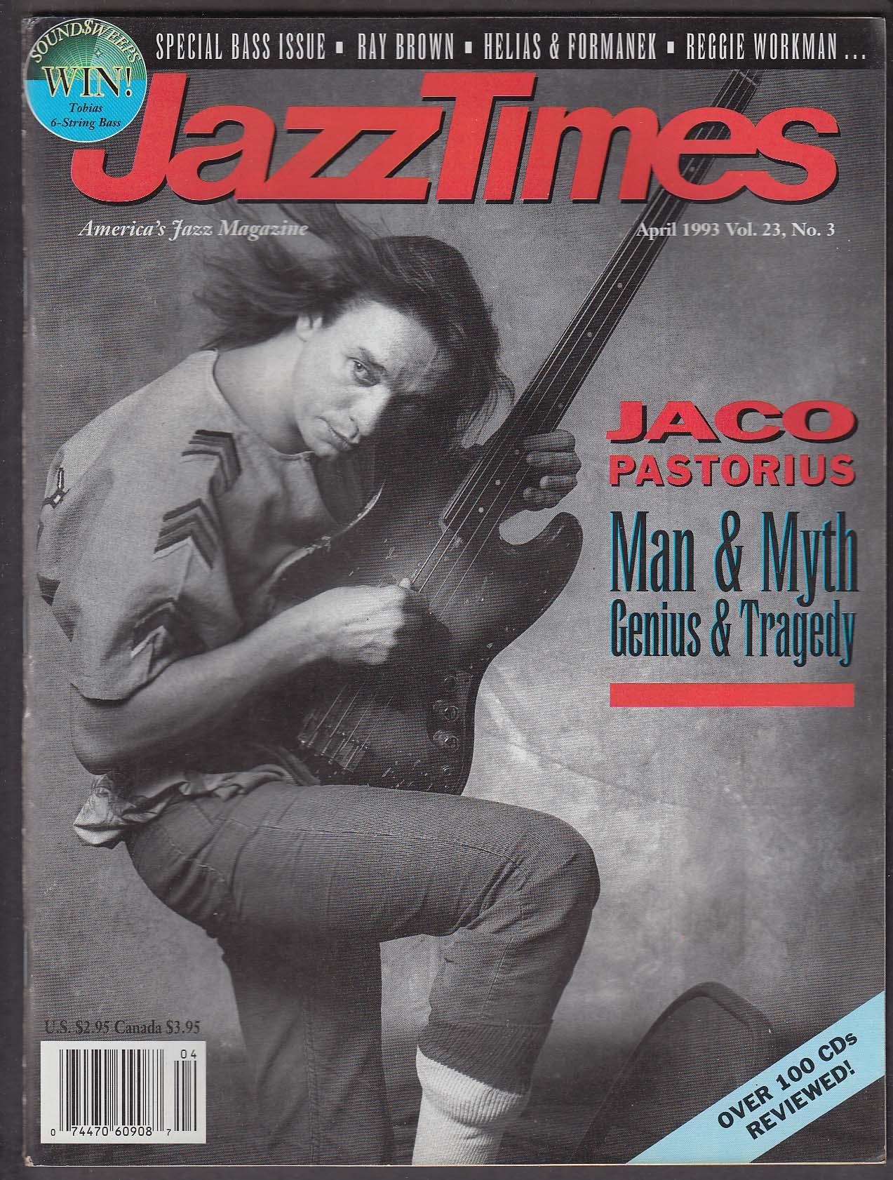 JAZZTIMES Jaco Pastorius Ray Brown Reggie Workman Helias & Formanek ++ 4 1993