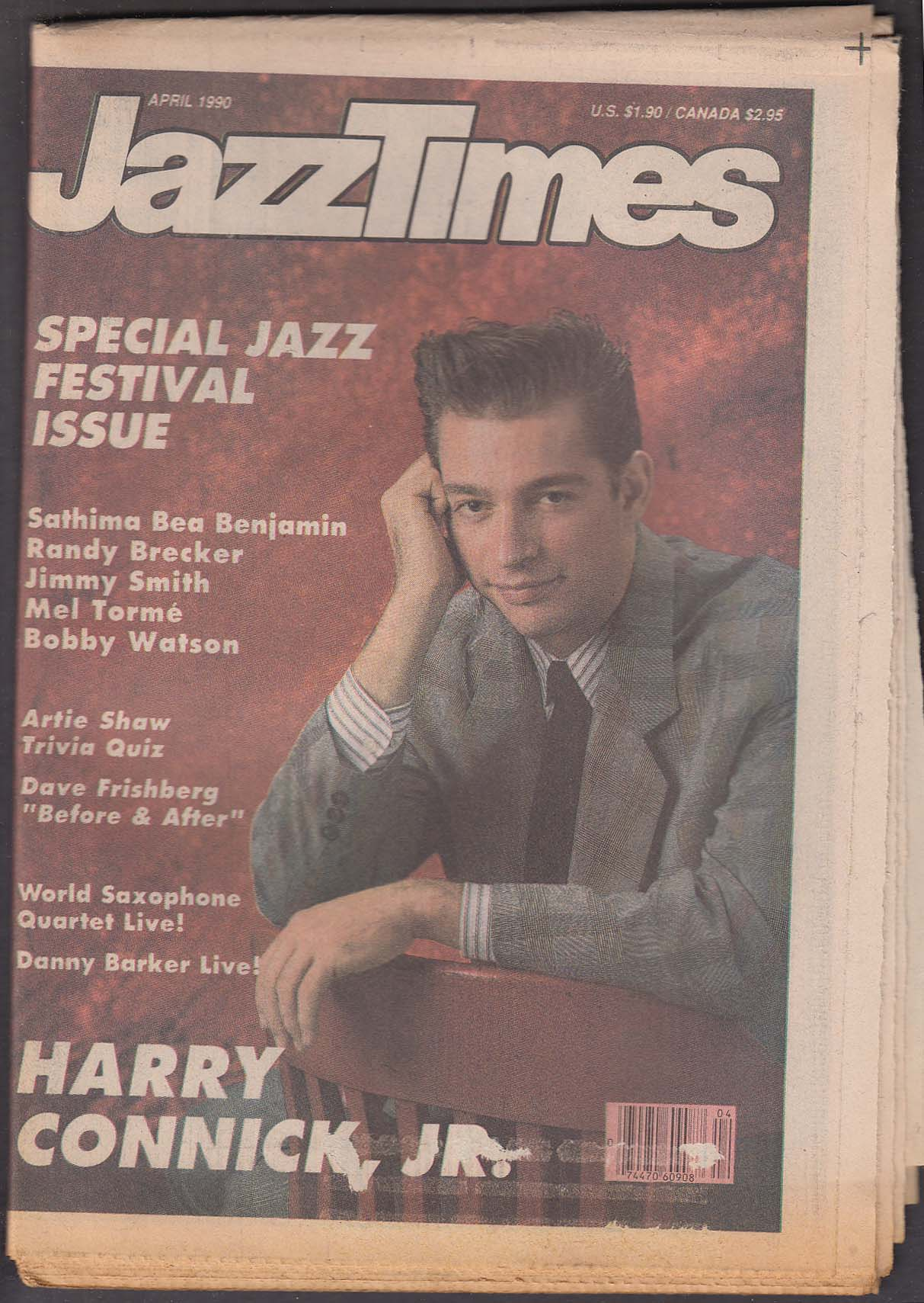 JAZZTIMES Harry Connick Jr Sathima Bea Benjamin Randy Brecker Mel Torme + 4 1990
