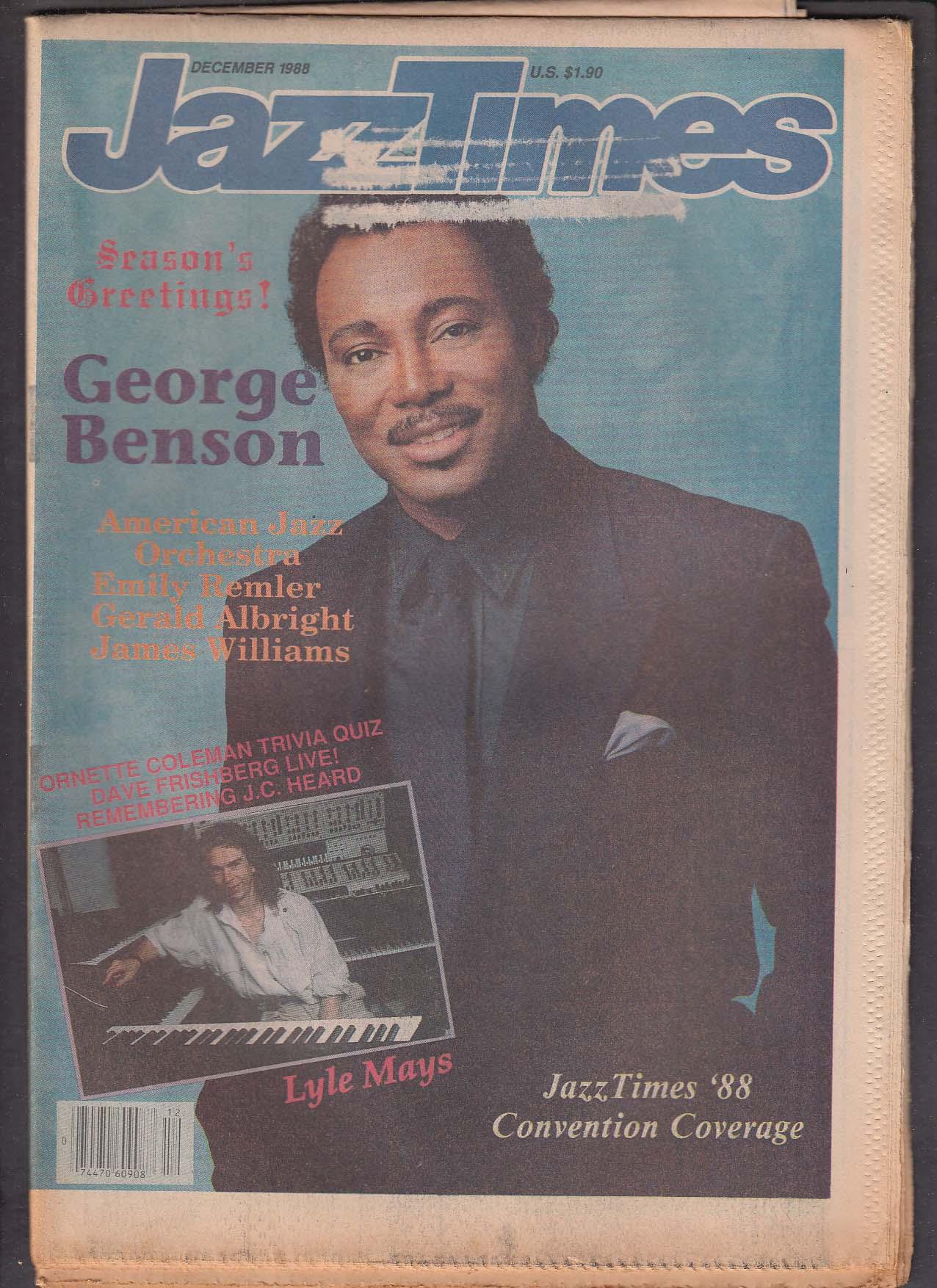 JAZZTIMES George Benson Lyle Mays Dave Frishberg ++ 12 1988