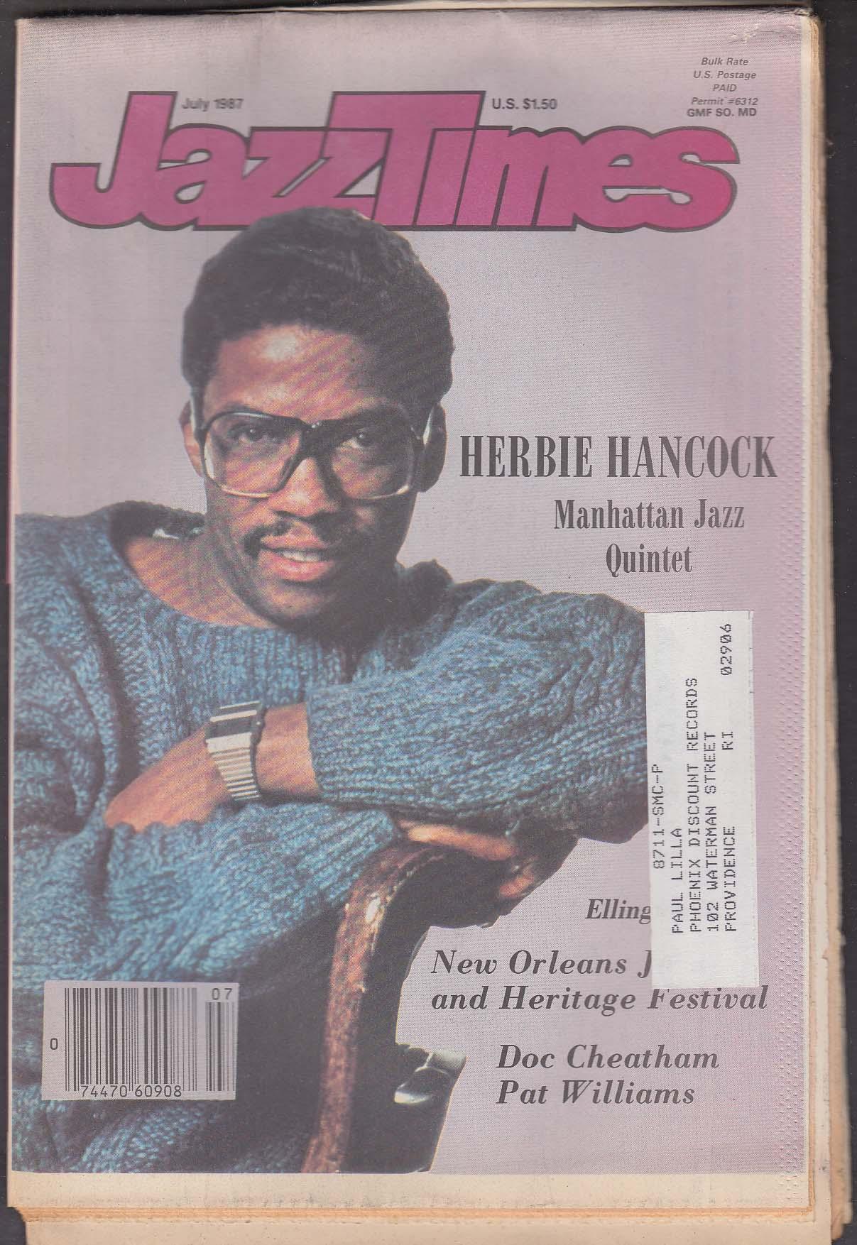 JAZZTIMES Herbie Hancock Manhattan Jazz Quintet Doc Cheatham Pat Williams 7 1987