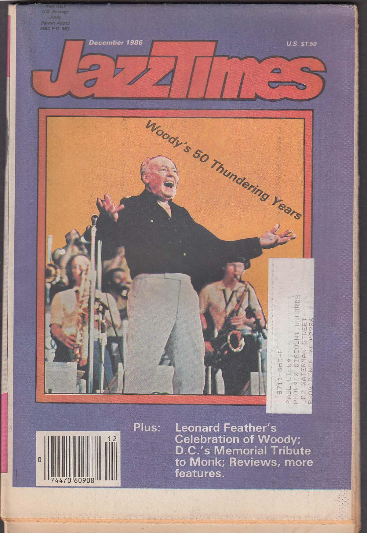 JAZZTIMES Woody Herman Thelonious Monk ++ 12 1986