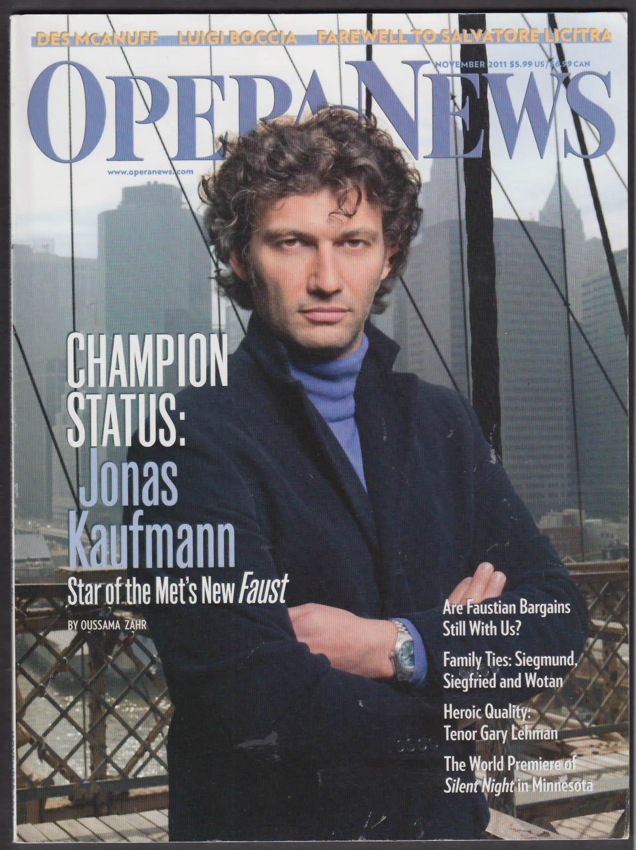 OPERA NEWS Jonas Kaufmann Tenor Luigi Boccia Kevin Puts Gary Lehman ++ 11 2011