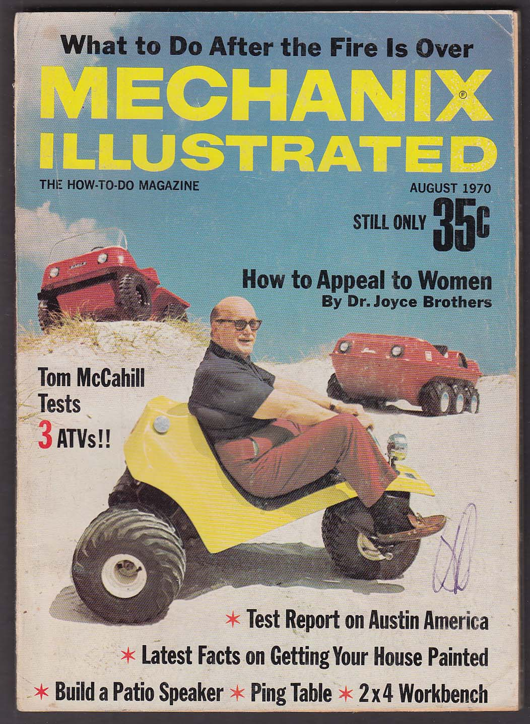 MECHANIX ILLUSTRATED Austin America road test ATVs ++ 8 1970