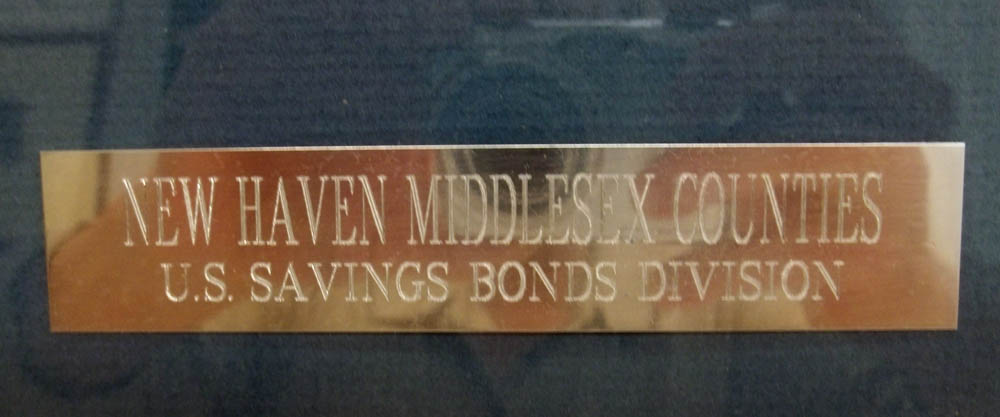 New Haven Middlesex Counties US Savings Bond Patriotic Service medal 1986
