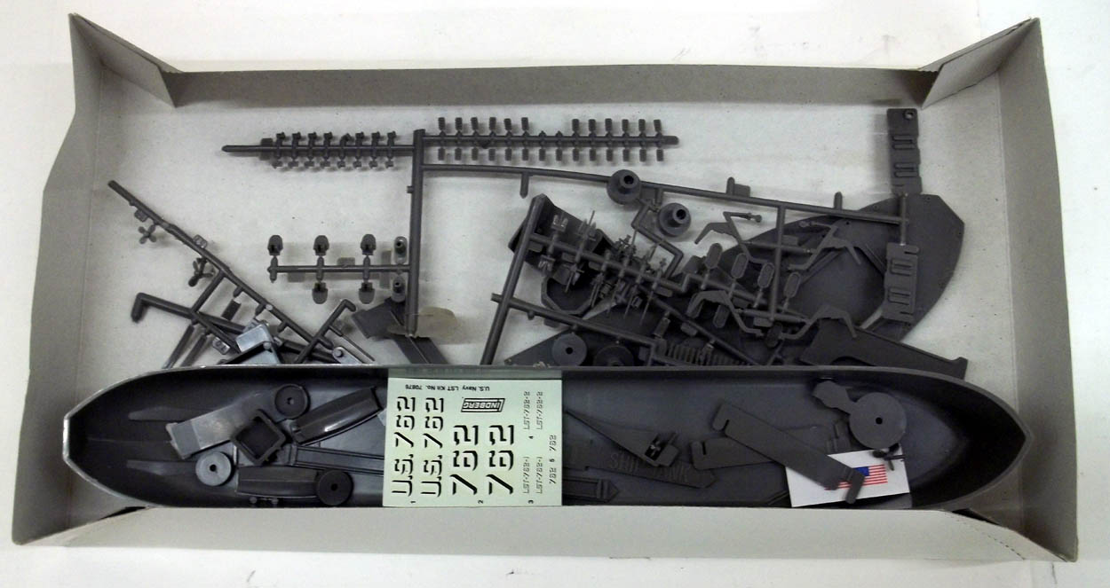 Lindberg D-Day Invasion L. S. T. 1/245 scale unbuilt model kit 1980s